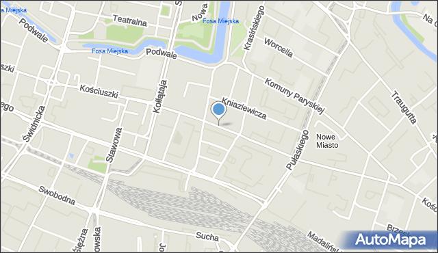 Wrocław, Kościuszki Tadeusza, gen., mapa Wrocławia
