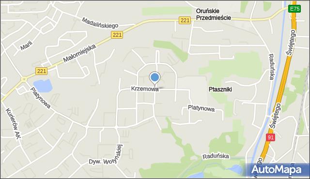Gdańsk, Krzemowa, mapa Gdańska