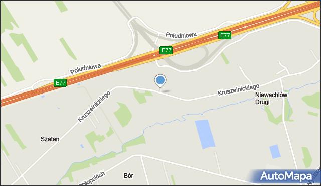 Kielce, Kruszelnickiego Zbigniewa Wilka, ppor., mapa Kielc