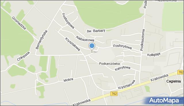 Kielce, Krzemionkowa, mapa Kielc