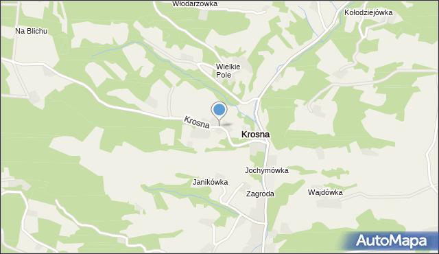 Krosna, Krosna, mapa Krosna