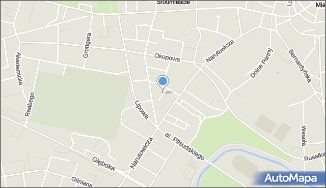 Lublin, Krucza, mapa Lublina