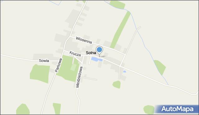 Solna, Krucza, mapa Solna
