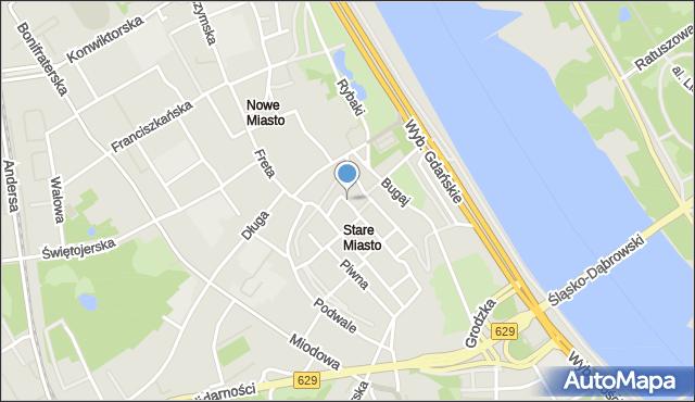 Warszawa, Krzywe Koło, mapa Warszawy