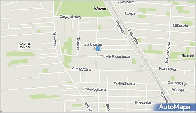 Warszawa, Króla Kazimierza, mapa Warszawy