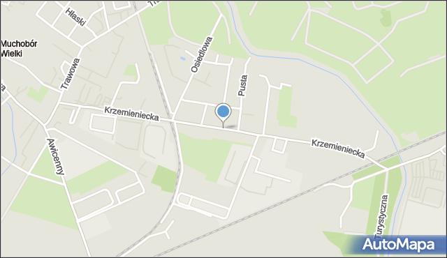 Wrocław, Krzemieniecka, mapa Wrocławia