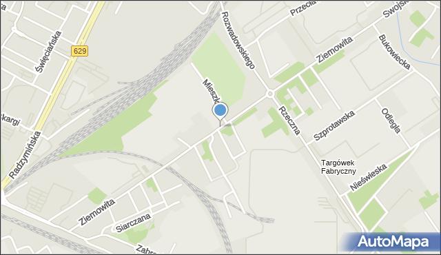 Warszawa, Księcia Ziemowita, mapa Warszawy