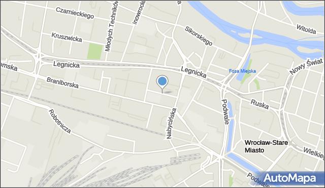 Wrocław, Księcia Ziemowita, mapa Wrocławia