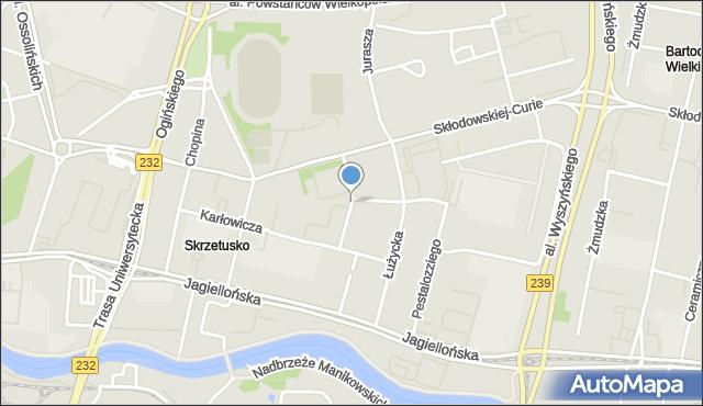 Bydgoszcz, Kurpińskiego Karola, mapa Bydgoszczy