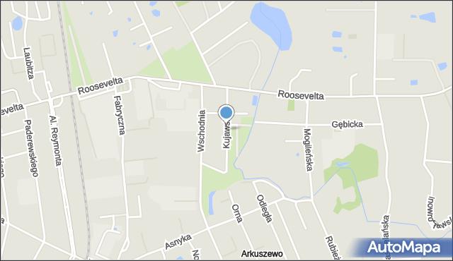 Gniezno, Kujawska, mapa Gniezna