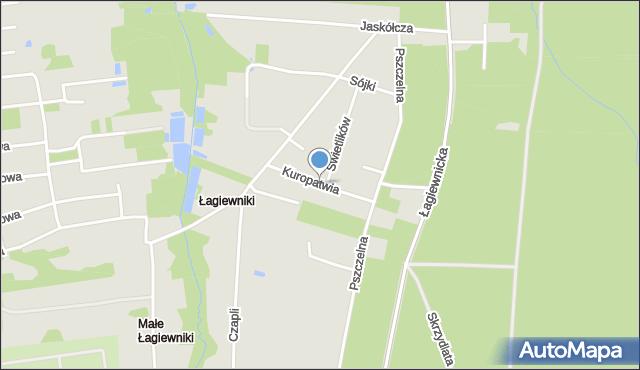 Łódź, Kuropatwia, mapa Łodzi