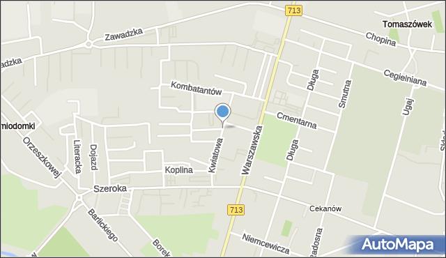 Tomaszów Mazowiecki, Kwiatowa, mapa Tomaszów Mazowiecki