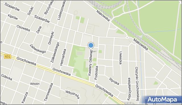 Warszawa, Kwatery Głównej, mapa Warszawy