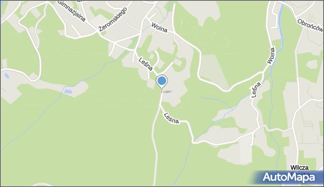 Karpacz, Leśna, mapa Karpacz