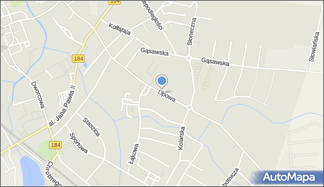 Szamotuły, Lipowa, mapa Szamotuły