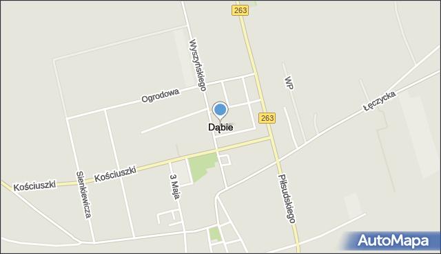 Dąbie, Lubiatów, mapa Dąbie