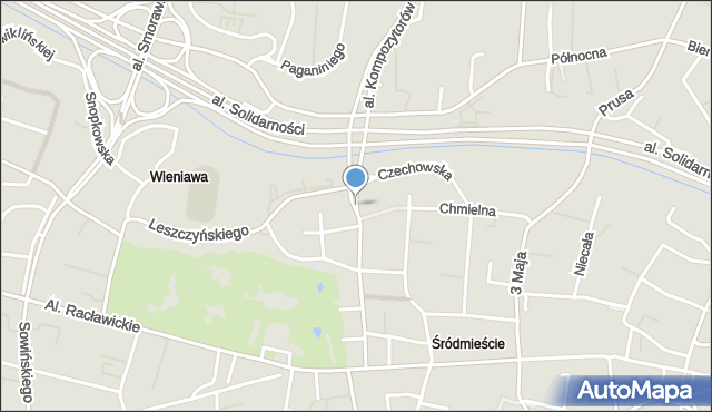 Lublin, Lubomelska, mapa Lublina