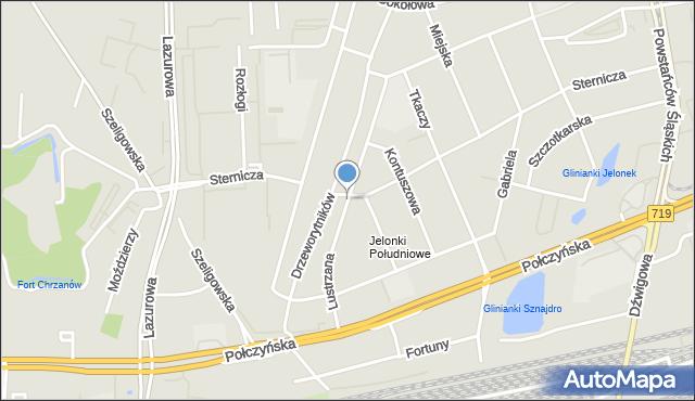 Warszawa, Lustrzana, mapa Warszawy