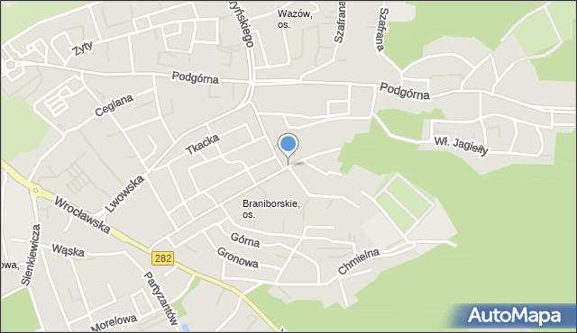 Zielona Góra, Lubuska, mapa Zielona Góra