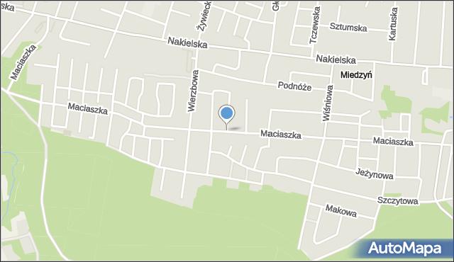 Bydgoszcz, Maciaszka Jana, mapa Bydgoszczy