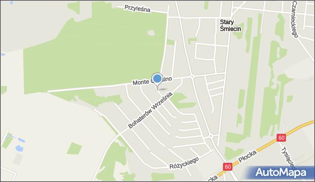 Ciechanów, Matejki Jana, mapa Ciechanów