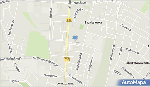 Lublin, Magnoliowa, mapa Lublina
