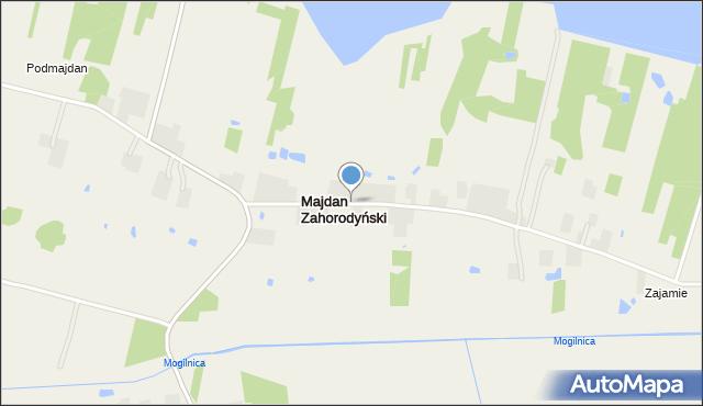 Majdan Zahorodyński, Majdan Zahorodyński, mapa Majdan Zahorodyński