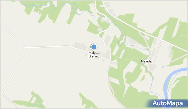 Pątnów, Mały Bieniec, mapa Pątnów