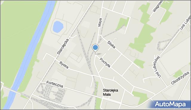 Poznań, Maya Romana, mapa Poznania