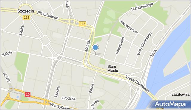 Szczecin, Małopolska, mapa Szczecina
