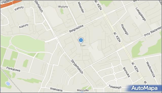 Warszawa, Małej Łąki, mapa Warszawy