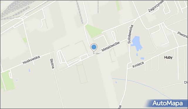 Kalisz, Metalowców, mapa Kalisza