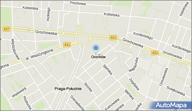 Warszawa, Męcińska, mapa Warszawy