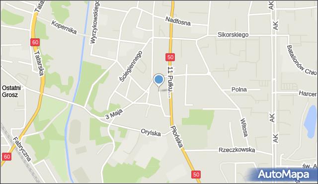 Ciechanów, Mickiewicza Adama, mapa Ciechanów