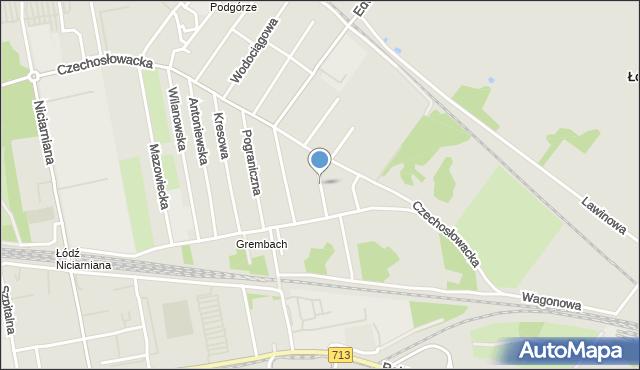 Łódź, Miechowska, mapa Łodzi