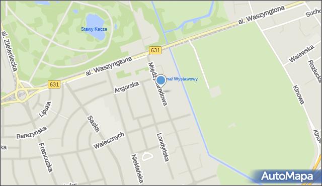 Warszawa, Międzynarodowa, mapa Warszawy