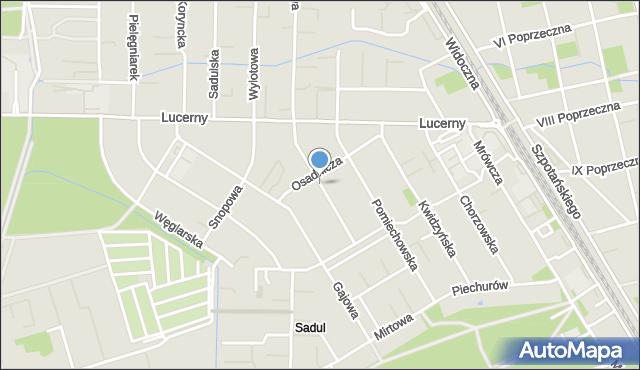 Warszawa, Mielecka, mapa Warszawy