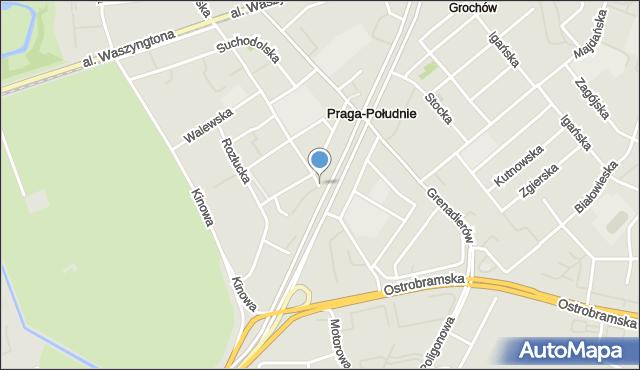 Warszawa, Międzyborska, mapa Warszawy