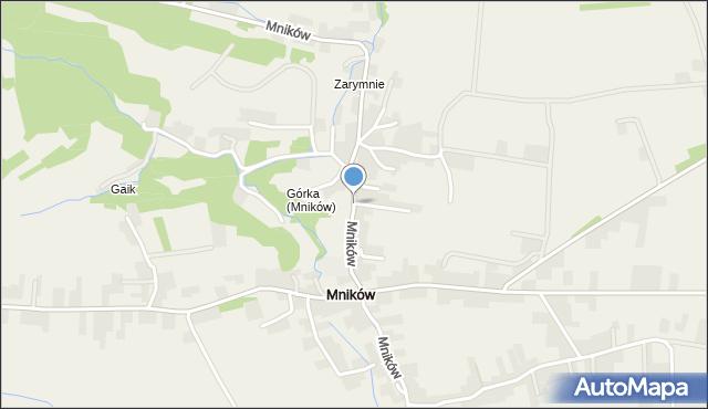 Mników, Mników, mapa Mników