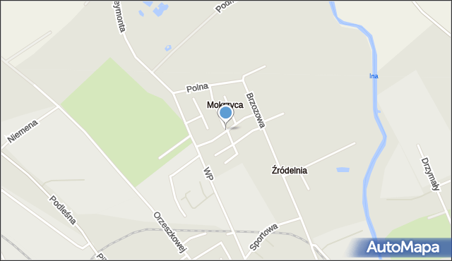 Stargard, Mokrzyca, mapa Stargard