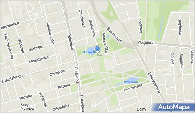 Warszawa, Morskie Oko, mapa Warszawy