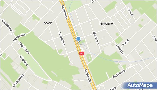 Warszawa, Modlińska, mapa Warszawy