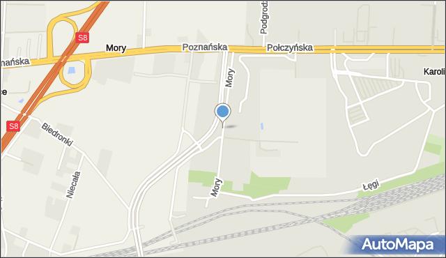 Warszawa, Mory, mapa Warszawy