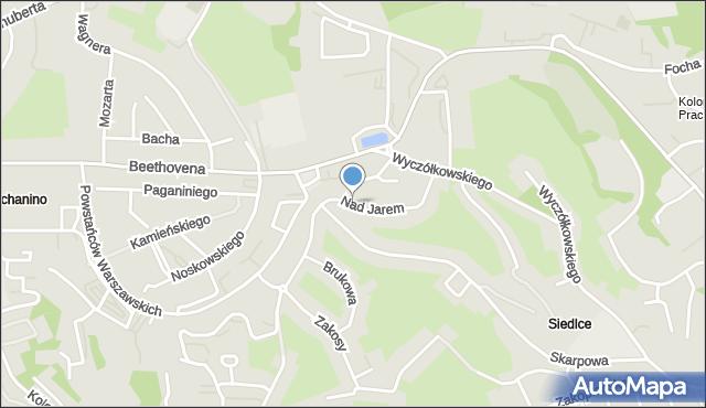 Gdańsk, Nad Jarem, mapa Gdańska