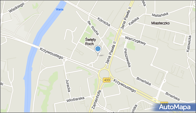 Poznań, Na Miasteczku, mapa Poznania