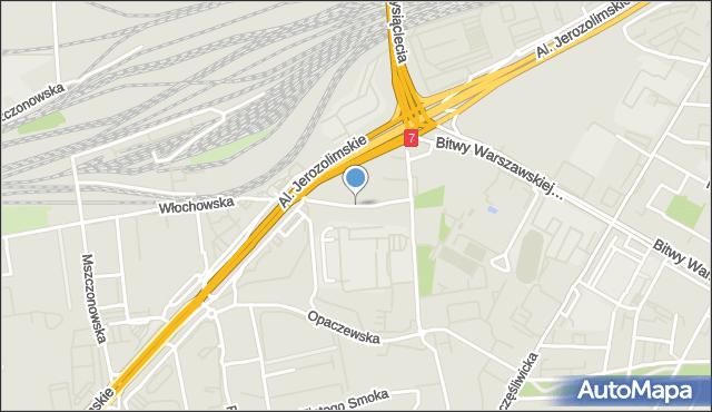 Warszawa, Na Bateryjce, mapa Warszawy