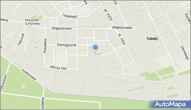 Warszawa, Na Przyzbie, mapa Warszawy