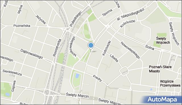 Poznań, Niepodległości, al., mapa Poznania