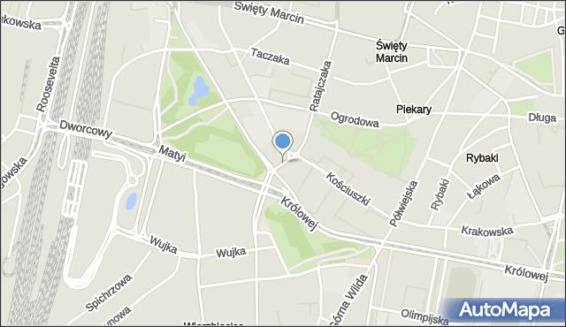 Poznań, Niezłomnych, mapa Poznania