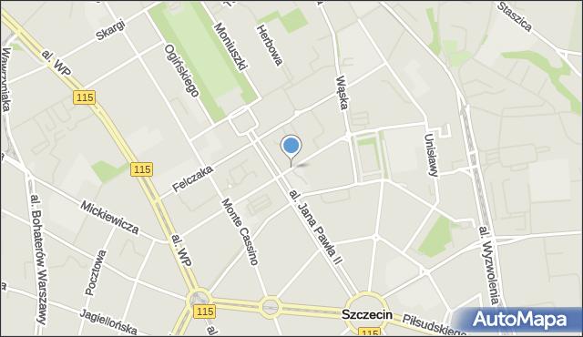 Szczecin, Niedziałkowskiego Mieczysława, mapa Szczecina